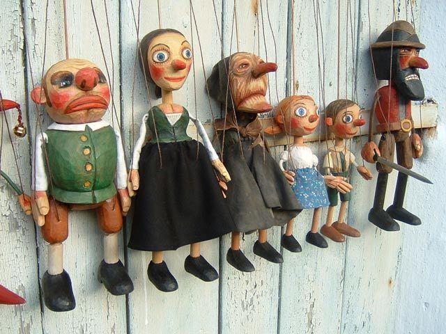 Collection, 6 marionnettes poupée