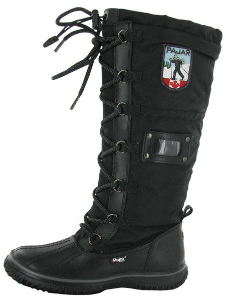 Black Pajar Grip Women's Snow Boots Waterproof Outdoor Winter | Streetmoda. More Pajar Winter boots for men & women at Streetmoda http://www.streetmoda.com/collections/pajar