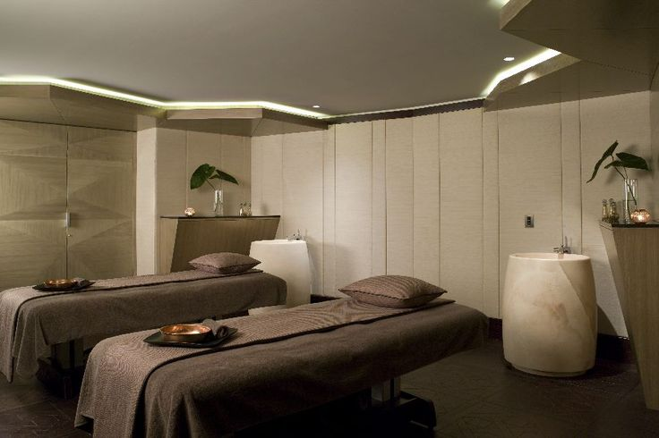 VIP Spa Treatment Suite Interior Design with Recessed Ceiling Light Decor by Hirsch Bedner Associates,  & , 900x600 pixels