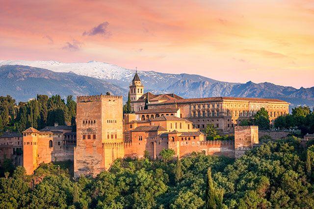 L'Alhambra de Grenade, Espagne.