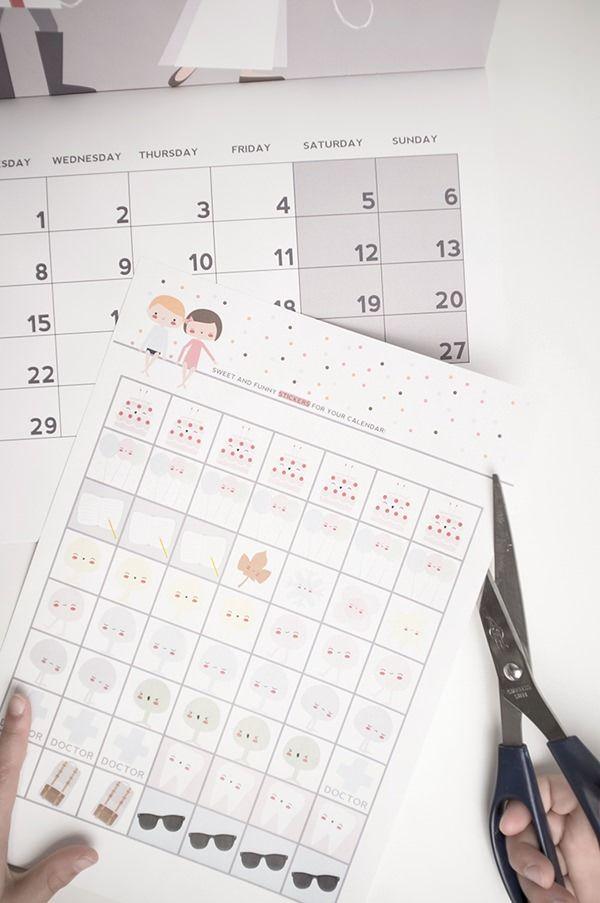 Pegatinas para vuestro calendario. ¡Descárgatelas Gratis!