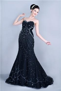 新品A-ラインスイートハートロングフロア大聖堂トレーンイブニングページェントドレス
