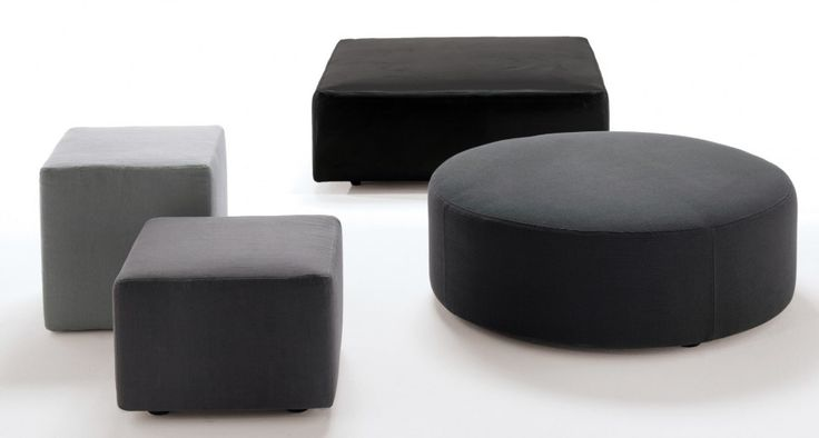 LINEAR | Pouf geometric shapes | Pouf the flat surface and consistent: thanks to their geometric shapes become original tables