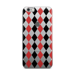 Rhombus red black and white figures Created by Casemiro Arts  This sleek and scratch-resistant case will fit your phone perfectly and keep it safe from the outside world