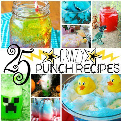 25 Crazy Punch Recipes for Kids