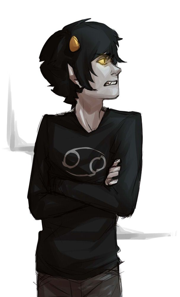 Guys I just realized something so carcinogenic means having the potential to cause cancer. Karkat's sign is cancer. His troll tag is carcioGenecist. And guess what the universe has cancer dang