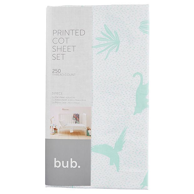 3 Piece Cot Sheet Set - Adventurer