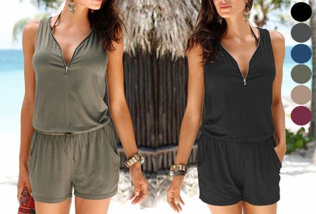 Jogging playsuit   Comfortabele zomerse onepiece