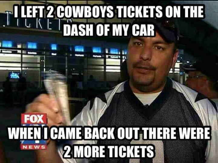 And some Astros tickets in the glove box