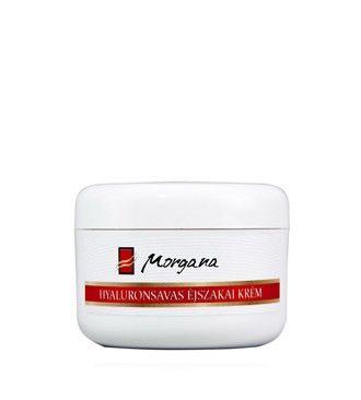 Morgana Hyaluronsavas éjszakai krém. Hatására bőre regenerálódik, sima, rugalmas és üde lesz.