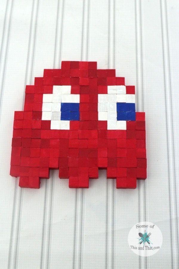 397 best geek chic home decor images on pinterest gaming rooms diy 8 bit wall art solutioingenieria Gallery