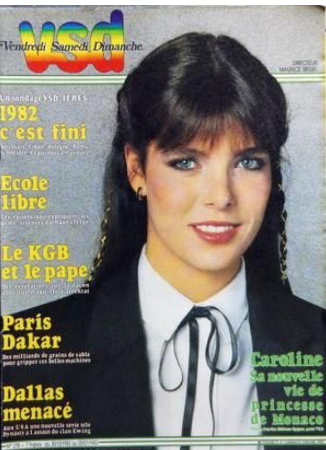 Mag VSD n° 278 du 30 décembre 1982 // CAROLINE DE MONACO - 1982 C'EST FINI | eBay