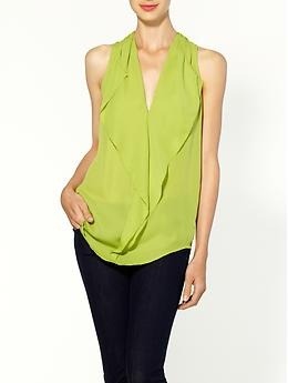 MICHAEL Michael Kors Ruffle Blouse | Piperlime: Style, Apple Shape Hourglass, Kors 89 50, Jeans Outfit, Lime, Ruffle Blouses, 50 Diva, Apple Body