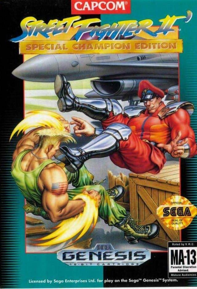 Street Fighter II Special Champion Edition for the Sega Genesis.