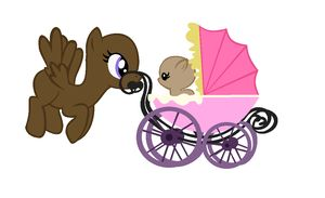 mlp mom and baby  base   Walking the Baby Base by EdgeofFear