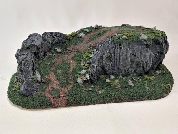 Warhammer Flocking Wargames Model Terrain Rocky Ground