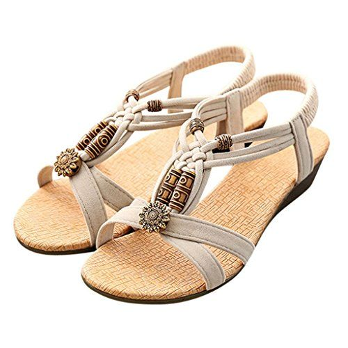 Optimal Womens Ladies Summer Thong Sandals low heel Toe Post Flip Flops Casual Boho Shoes