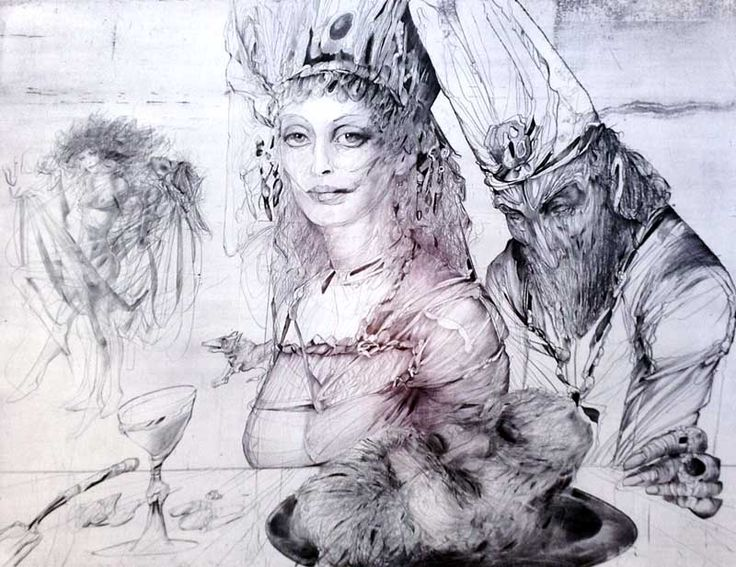 Karel Demel, Salome, intaglio