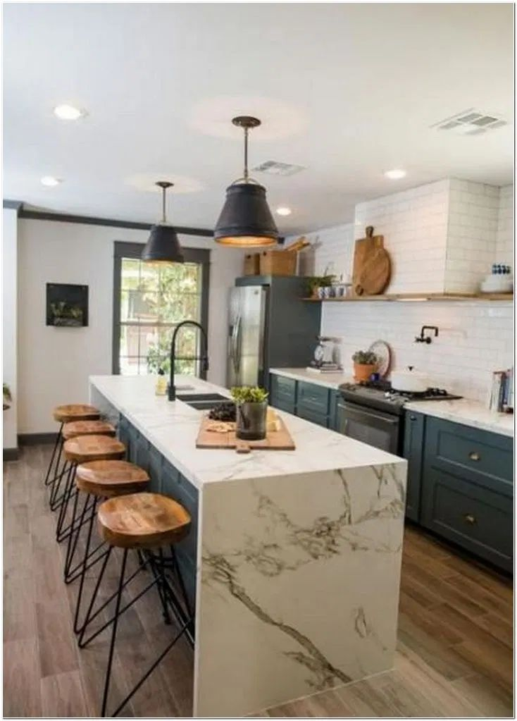 75 Modern Farmhouse Kitchens And Cabinets Joanna Gaines 20 ...