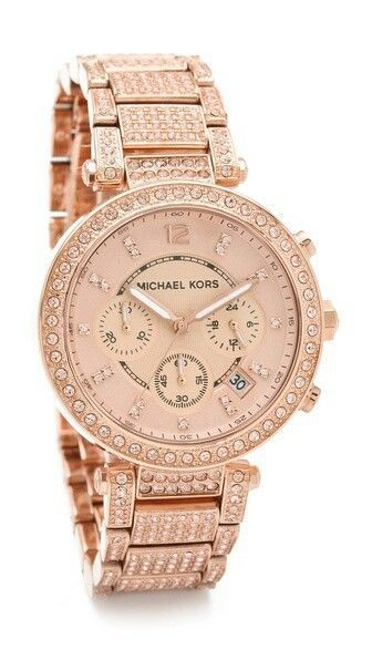 Michael Kors rose gold watch - my new baby is stunning isn't she?!