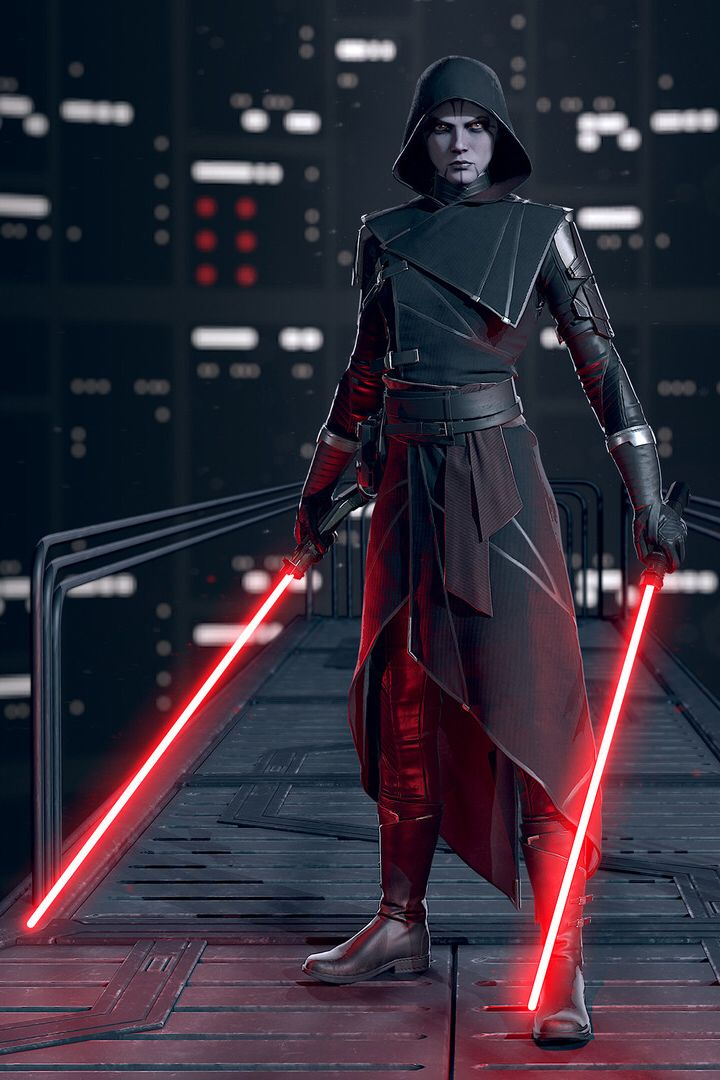 Asajj Ventress - Star Wars fan art by Adam Fisher