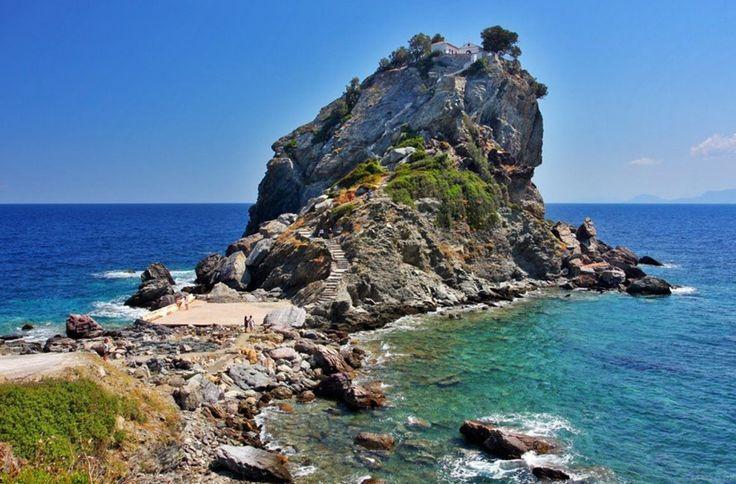 Skopelos, where scenes of Mamma Mia were filmed