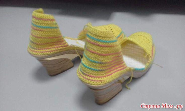 Летние босоножки крючком