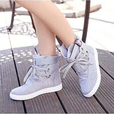 damesko flad hæl komfort lærred mode sneakers sko Fås i flere farver – DKK kr. 226