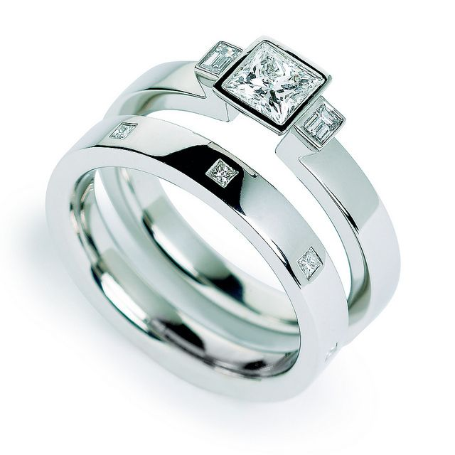 Spectacular Awesome Engagement Ring Princess Cut Wedding RingsCheap