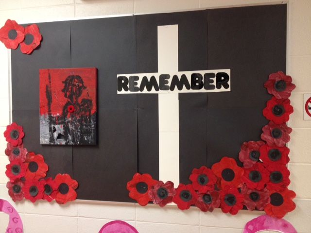 Remembrance Day Bulletin Board 2014