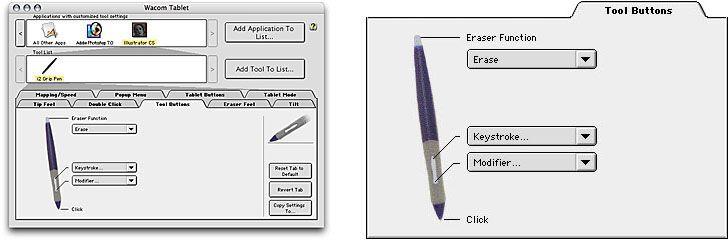 Wacom Pen Tablet Settings - Pen Tool Buttons