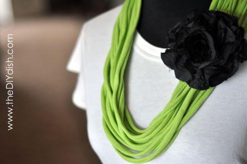 scarf: No Sew Scarf, T Shirt Scarves, Infinity Scarfs, T Shirts, Tshirt, Craft Ideas, Diy