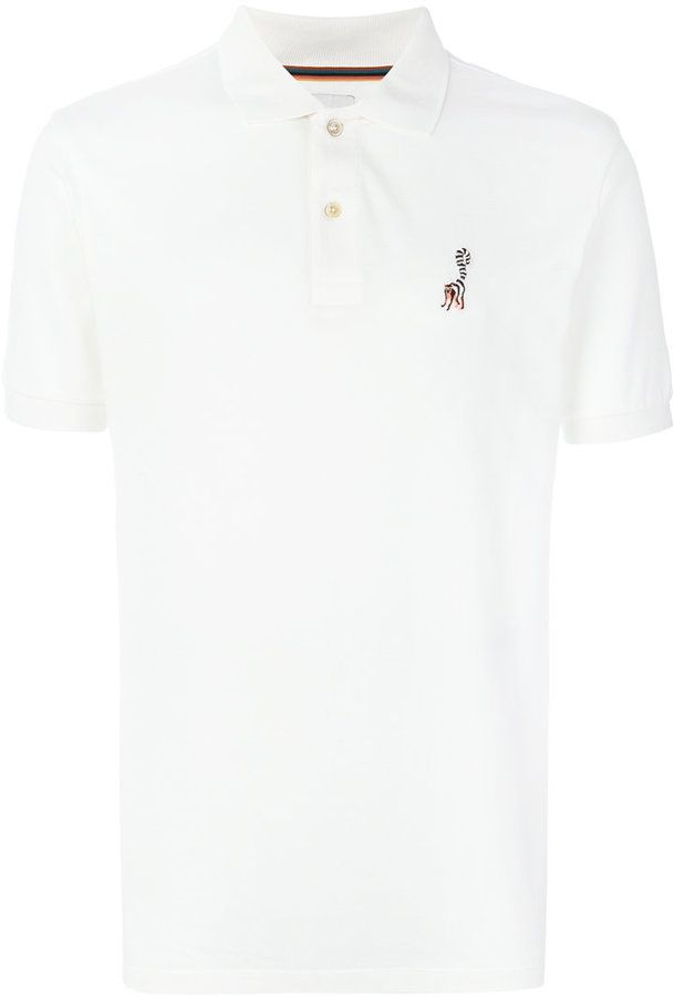 Paul Smith embroidered detail polo shirt