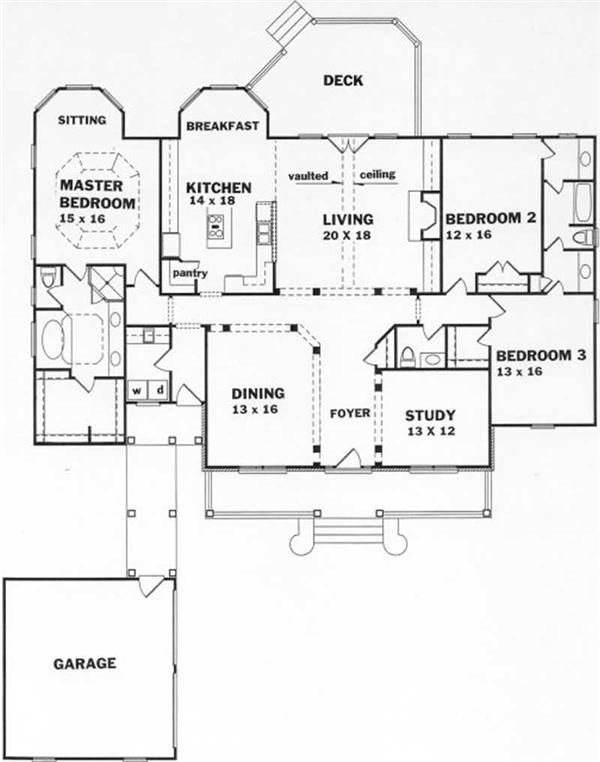 Traditional Country Ranch House Plans Home Design Ka25