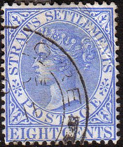 Straits Settlements 1892 Queen Victoria SG 101 Fine Fine Used Scott 50 Other Malay Straits Stamps HERE