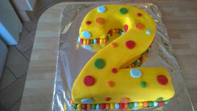 2 nd birthday cake