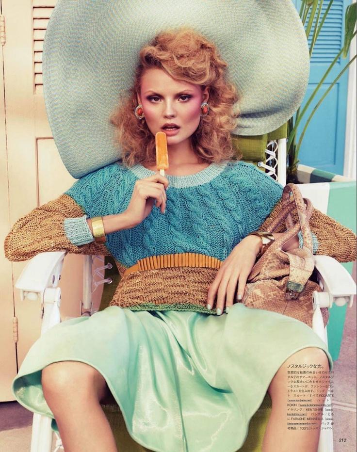 Magdalena Frackowiak for Vogue Japan February 2012 by Sharif Hamza (6 Pics)