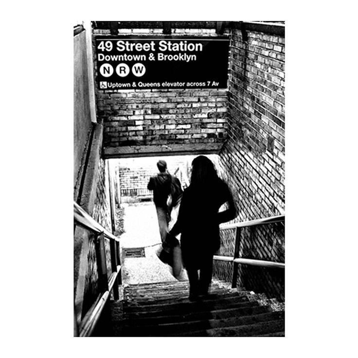 USA Subway Metal Frame Shadow Poster
