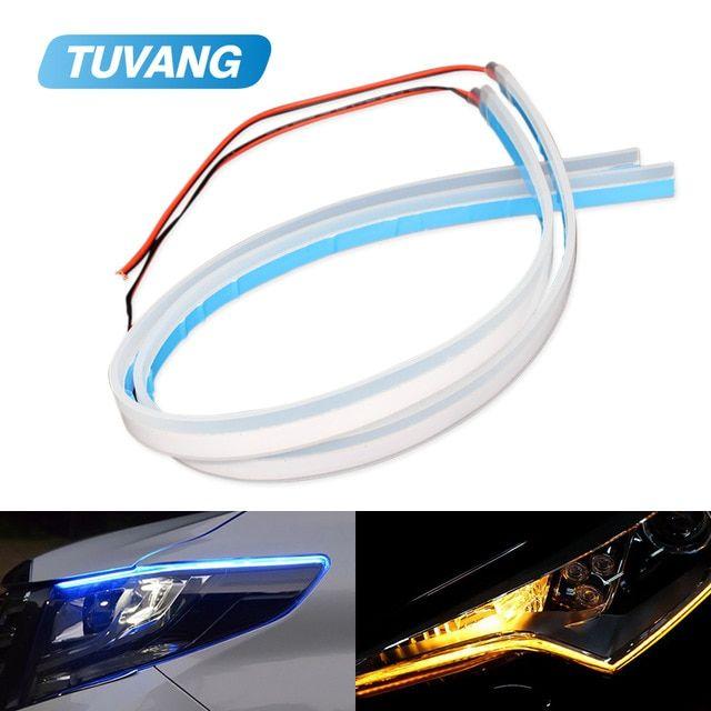2x Ultrafine Drl Flexible Led Strip Daytime Running Lights Soft