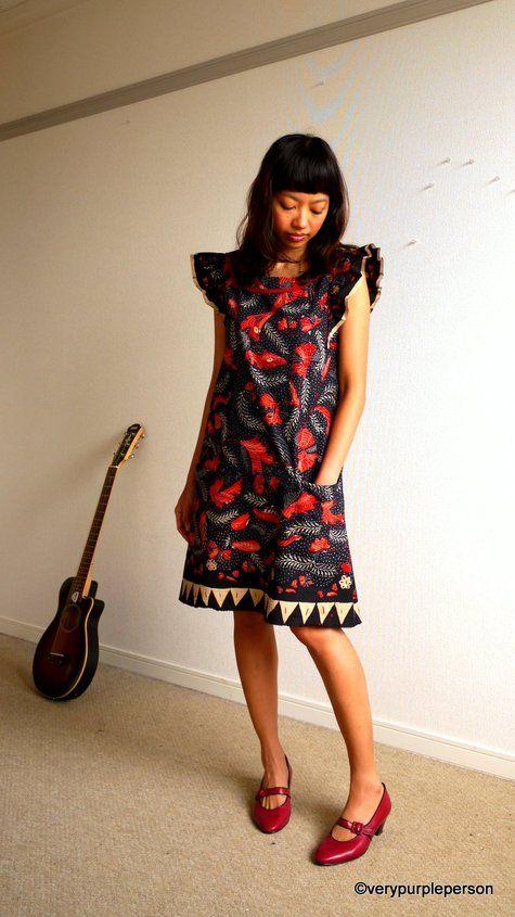 vintage Javanese batik dress