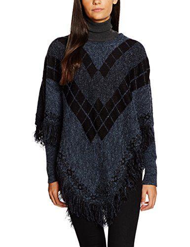 #VERO #MODA #Damen #Vmsephia #LS #Poncho, #Mehrfarbig #(Navy #Blazer #Detail:W. #Black), #34 #(Herstellergröße: #XS) VERO MODA Damen Vmsephia LS Poncho, Mehrfarbig (Navy Blazer Detail:W. Black), 34 (Herstellergröße: XS), , Die kreative Alternative zur Übergangsjacke - mit diesem Poncho des dänischen Labels VERO MODA beweist du modisches Stilgespür. Der Strickponcho kommt ohne Ärmelnaht aus und fällt daher besonders locker. Er wird lässig über die Schultern geworfen, reicht bis zum…
