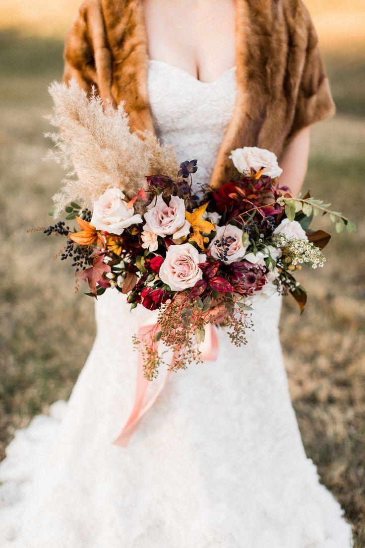 Tipps und Inspirationen zu Pampasgras: Der derzeit größte Blumentrend für Hochzeiten   Meine süße Verlobung   – Wedding Bouquet