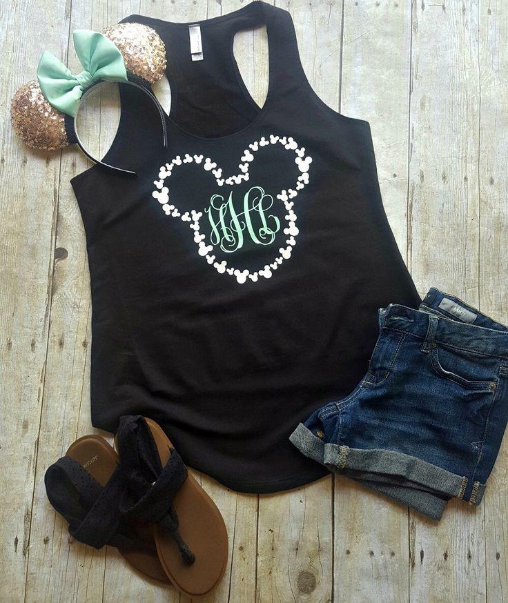 Disney Shirt // Monogram Disney Shirt // Disney tank top // Disney Shirts for Women // Monogram // Disney shirts by LittleButFierceCo on Etsy https://www.etsy.com/listing/450438048/disney-shirt-monogram-disney-shirt