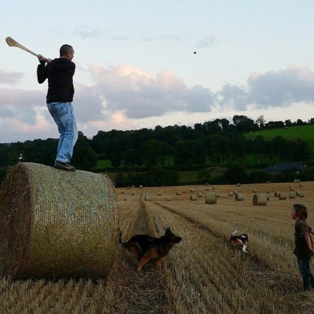 Hurling fun. Ireland