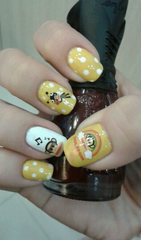 We love these Fall-tastic Paul Frank nails!! Way cute!