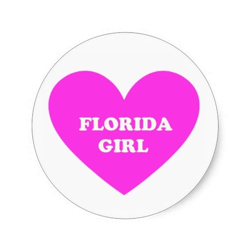 Florida Girl Round Sticker