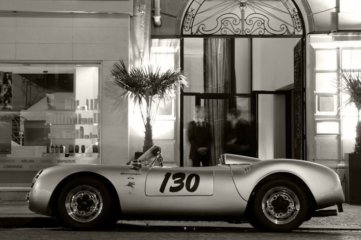 Classic Classic Classic! Porsche 550 Spyder! Hit the image to see this in all of it's vintage glory! #spon #Porsche #CarPorn