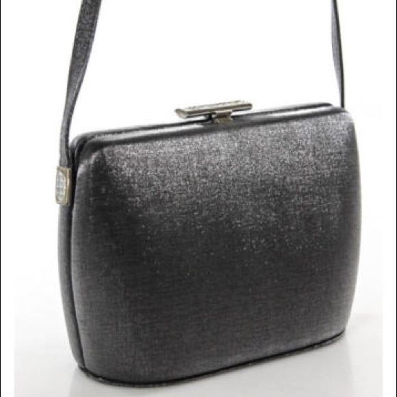 Stuart Weitzman Gray Crossbody Handbag Stuart Weitzman Gray Satin Silver Tone Crossbody Handbag in a very good condition with no significant wear or tear Stuart Weitzman Bags Crossbody Bags