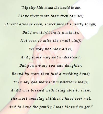 This is for my step kids =) Although I will never be their biological mom, I love them no less.