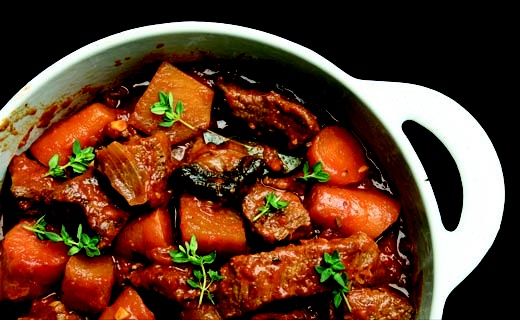 Slow Cooker Savoury Beef Stew - The ultimate comfort food — a one-dish dinner your family will be happy to come home to!